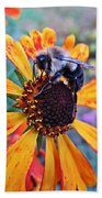Helenium Bumble Bee Bath Towel