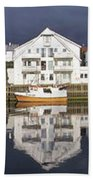 Henningsvaer Panoramic View Bath Towel