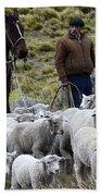 Herding Sheep Patagonia 3 Bath Towel