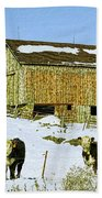 Hereford Barn Painting Bath Towel