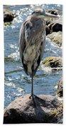 Heron On One Leg Bath Towel