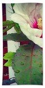 Hibiscus Flower In Bloom Bath Towel