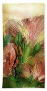 Hibiscus Sky - Peach And Yellow Tones Bath Towel