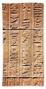 Hieroglyphs In The Temple Of Kalabsha  Bath Towel