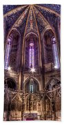 High Altar And Stained Glass Windows  Bath Towel