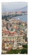 High Angle View Of A City, Naples Bath Towel