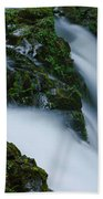 High Angle View Of A Waterfall, Sol Duc Bath Towel