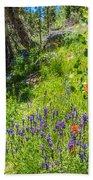 High Country Wildflowers Bath Towel