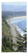 High View Of Oregon Coast Bath Towel