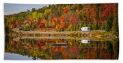 Highway Through Fall Forest Hand Towel