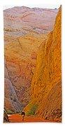 Hiking In Grand Wash In Capitol Reef National Park-utah Bath Towel
