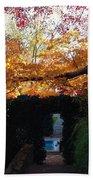 Hillwood Mansion Fall Garden Bath Towel