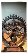 Hindu Statue Of Shiva In Nataraja Dance Pose Bath Towel