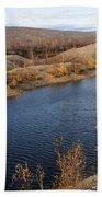 Historic Alaska Gold Dredge In Fall Bath Towel
