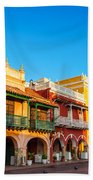 Historic Colonial Facades Bath Towel