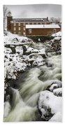 Historic Harrisville Nh In Winter Bath Towel