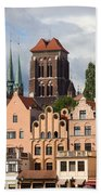 Historic Houses In Gdansk Bath Towel