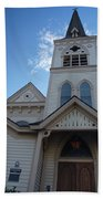 Historic Methodist Church Looking Up Bath Towel
