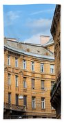 Historic Tenement Houses In Budapest Hand Towel
