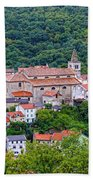 Historic Town Of Bakar In Green Forest Bath Towel
