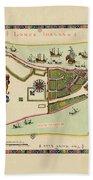 Historical Map Of Manhattan 1661 Bath Towel
