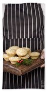 Holding Mince Pies Bath Towel