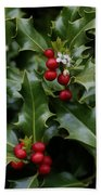Holiday Holly Bath Towel
