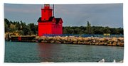Holland Harbor Light Bath Towel