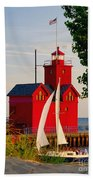 Holland Lighthouse Bath Towel