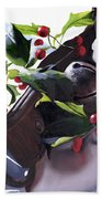 Holly And Bells Bath Towel