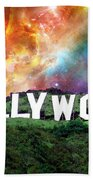 Hollywood - Home Of The Stars By Sharon Cummings Bath Towel