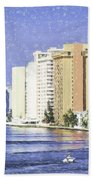 Hollywood In Florida Hand Towel