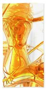 Honey Painted Abstract Bath Towel