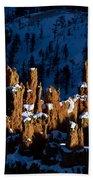 Hoodoos In Shadows Bryce Canyon National Park Utah Bath Towel
