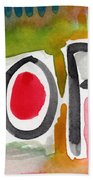 Hope- Colorful Abstract Painting Bath Towel
