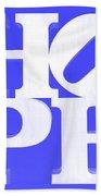 Hope Inverted Blue Bath Towel