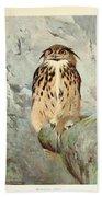 Horned Owl Bath Towel
