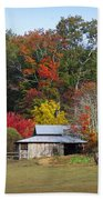 Horse And Barn In The Fall 3 Bath Towel