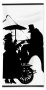 Horse And Carriage Silhouette Bath Towel