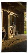 Horse Barn Sunset Hand Towel