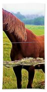 Horse In The Pasture Bath Towel