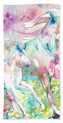 Horse Painting.17 Bath Towel