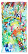 Horse Painting.29 Hand Towel
