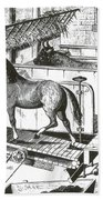 Horse Powered Stall Cleaner, 1880 Bath Towel