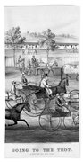 Horse Racing, C1869 Bath Towel