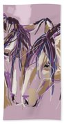 horses Purple pair Bath Towel