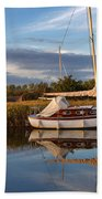 Horsey Mere In Evening Light Bath Towel