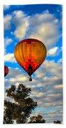 Hot Air Balloons Over Trees Bath Towel