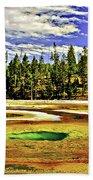Prismatic Geyser Yellowstone National Park Bath Towel