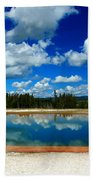Hot Springs And Clouds Bath Towel